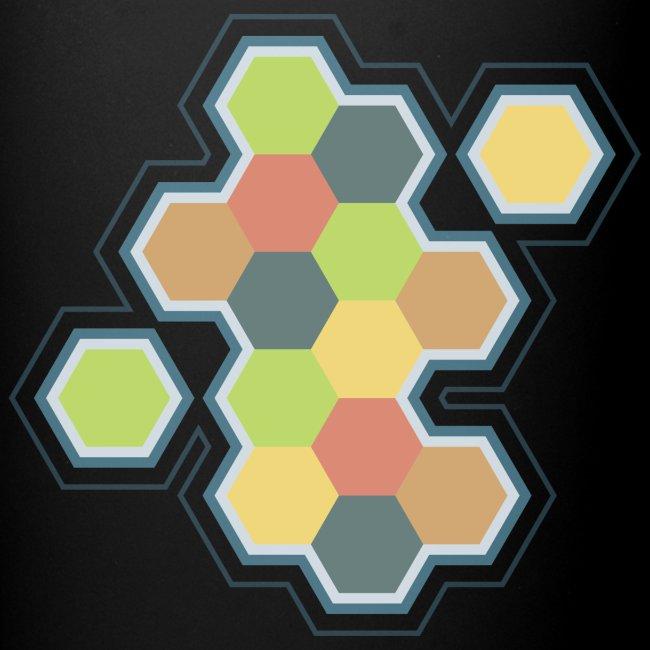 settlers of catan, settlers, catan, boardgames, board games, hexagon,  tabletop, rpg, gamer, gaming | Full Color Mug