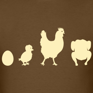 Evolution Chicken Shirt - Men's T-Shirt