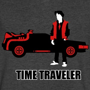 time_traveler T-Shirts - Men's V-Neck T-Shirt by Canvas