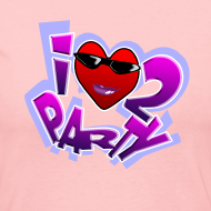 Design ~ I Love To Party. TM  Ladies long sleeve shirt