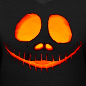 Halloween Pumpkin - Women's V-Neck T-Shirt