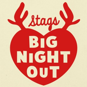 STAGS big NIGHT out wedding Bachelor english STAG Bags & backpacks - Eco-Friendly Cotton Tote