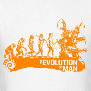 Evolution - orange - Men's T-Shirt