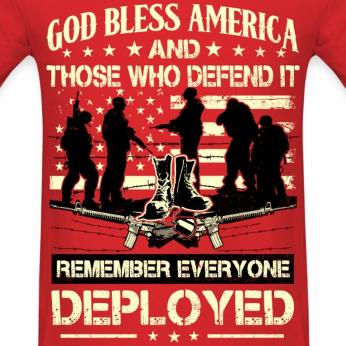Red Friday Shirt  -  Remember Everyone Deployed