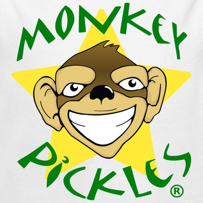 Monkey Pickles Long Sleeve Baby Bodysuit