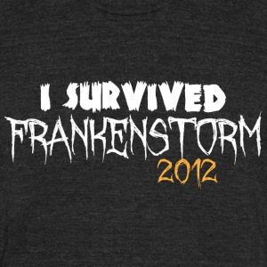 I survived Frankenstorm 2012 T-Shirts - Unisex Tri-Blend T-Shirt by American Apparel
