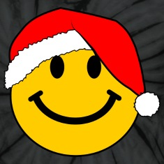 Santa Smiley Face for Christmas T-Shirts