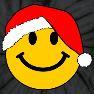 Santa Smiley Face for Christmas T-Shirts - Unisex Tie Dye T-Shirt
