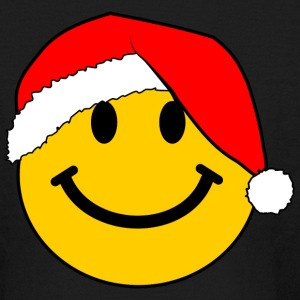 Santa Smiley Face for Christmas Kids' Shirts - Kids' Long Sleeve T-Shirt