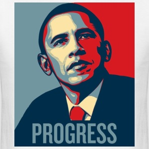 barrack Obama Progress - Men's T-Shirt