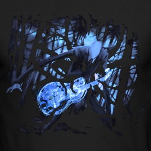 Slender Man With A Guitar - Men's Long Sleeve T-Shirt by Next Level