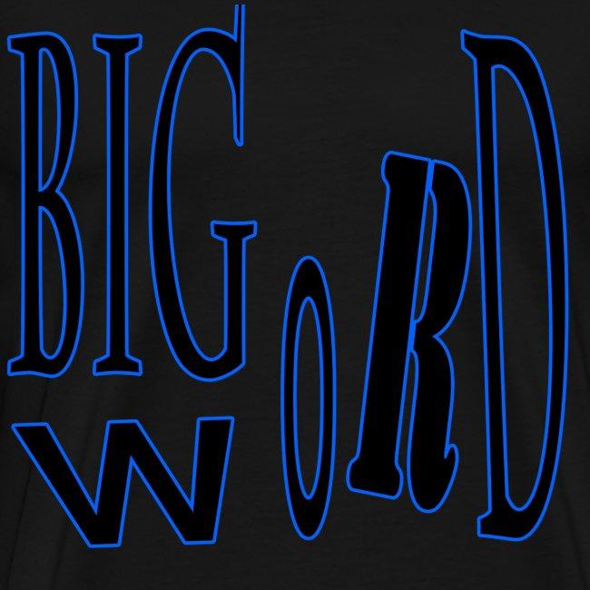 Big Word Blue & Black