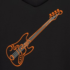 The Bass With Strings Hoodies
