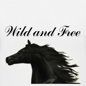 Womens Wild and free Horse Tee - Women's V-Neck T-Shirt
