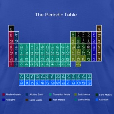 Blue Stylish Periodic Table of Elements T-Shirts
