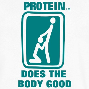 Protein Does The Body Good T-Shirts - Men's V-Neck T-Shirt by Canvas