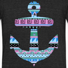 Anchor with Blue Tribal Pattern T-Shirts