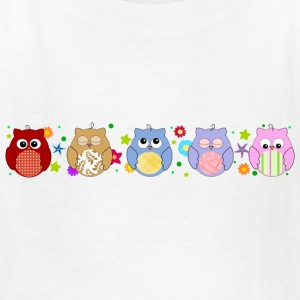 Cute Colorful Owls and flowers Kids' Shirts - Kids' T-Shirt
