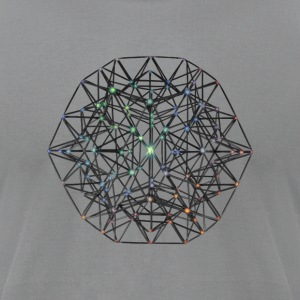 Geometric Beauty:  023 Node - Gray Nebula - Men's T-Shirt by American Apparel