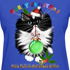 A Tuxedo Kitten Christmas - Women's T-Shirt