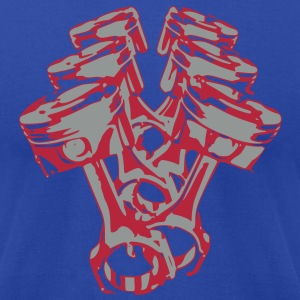 Pistons T-Shirts - Men's T-Shirt by American Apparel