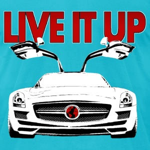 BENZ SLS AMG. Live it Up! - Men's T-Shirt by American Apparel