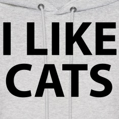 i like cats Hoodies