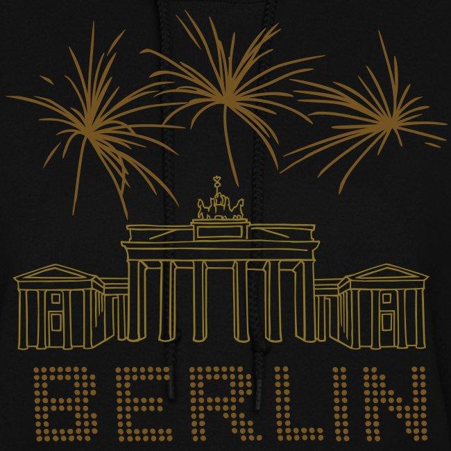 Berlin fireworks New Year's Eve at the Brandenburg Gate.