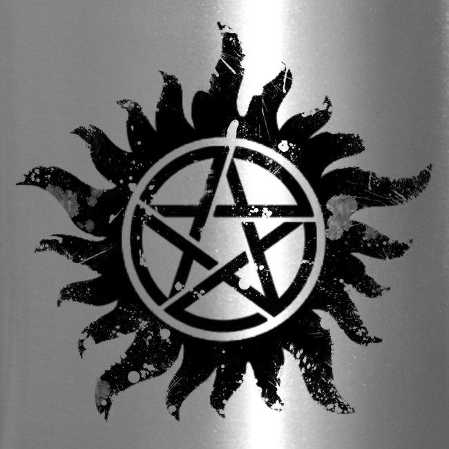 Broken Anti-Possession Symbol Dark   Travel Mug