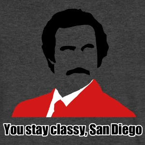 you stay classy san diego T-Shirts - Men's V-Neck T-Shirt by Canvas