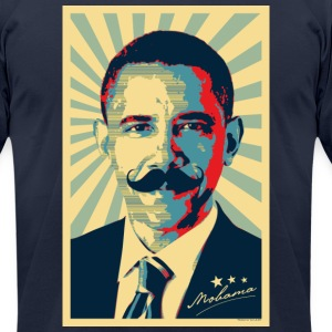 Mobama - Barak Obama Mustache T-Shirts - Men's T-Shirt by American Apparel