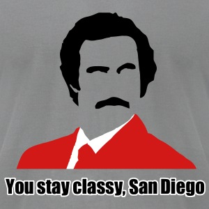 you stay classy san diego T-Shirts - Men's T-Shirt by American Apparel