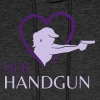 HerHandgun 2-Tone Purple Logo - The Ashley Hoodie - Men's Hoodie