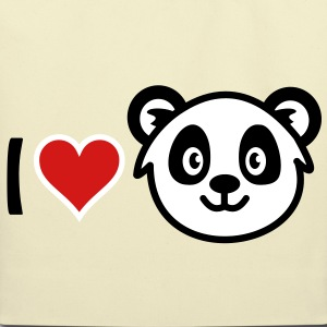 I love Panda Bags  - Eco-Friendly Cotton Tote