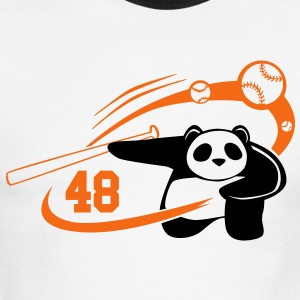 Homerun MVP Panda - Men's Ringer T-Shirt