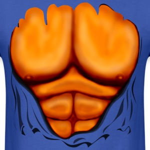 Ripped Muscles Orange, six pack, chest T-shirt - Men's T-Shirt