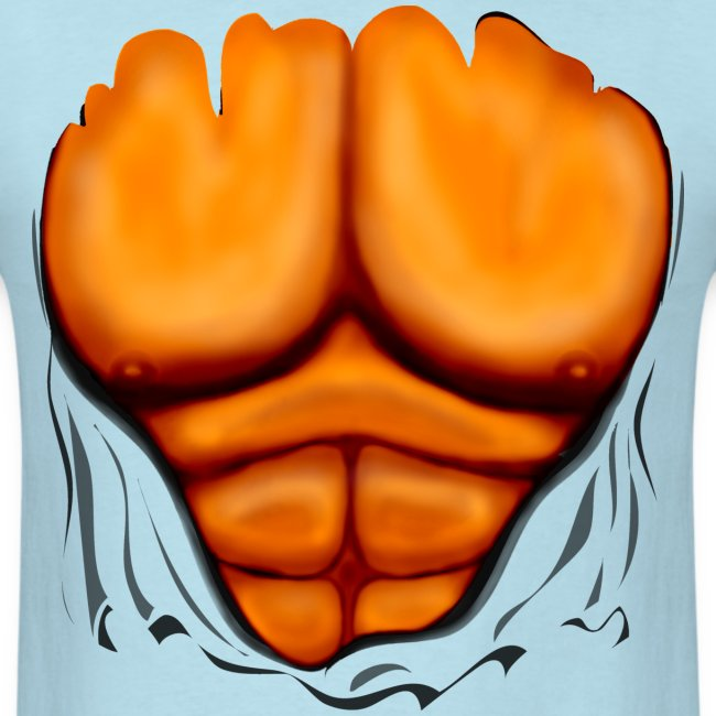 Ripped Muscles Orange, six pack, chest T-shirt