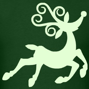 Reindeer Glow - Men's T-Shirt