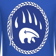 Tribal Bear Sweatshirt Men's First Nations Shirt