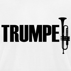 Trumpet T-Shirts - Men's T-Shirt by American Apparel