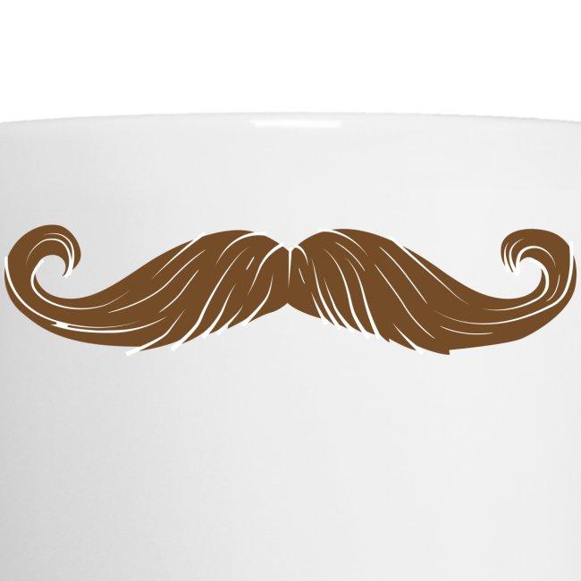 niftees mustache coffee mug coffeetea mug
