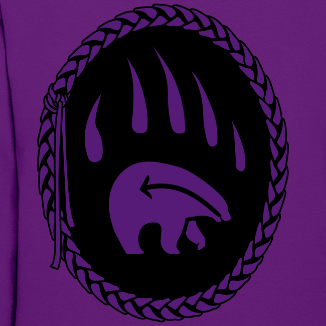 Tribal Art Hoodie First Nations Bear Hoodie Sweatshirt