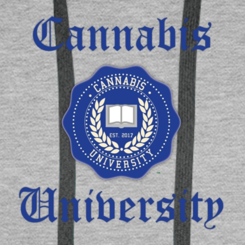 Cannabis University Blue Seal with Text