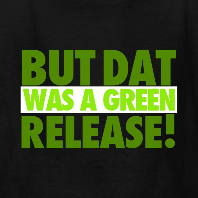 GREEN RELEASE. Youth Tee