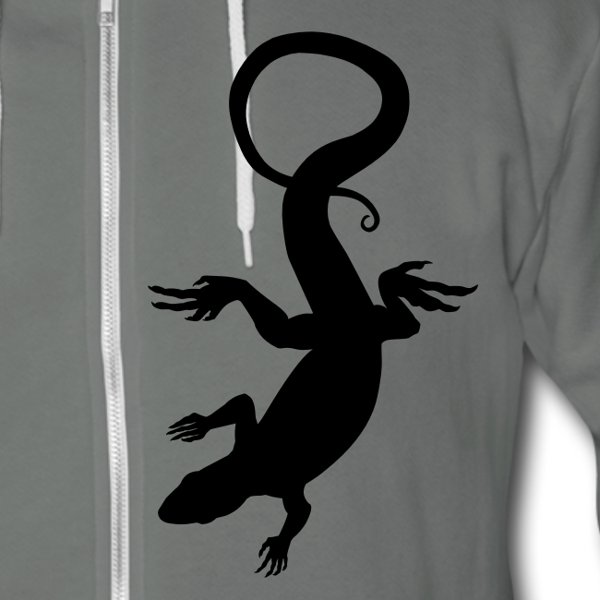 Lizard Hoodie Vintage Reptile Art Jacket