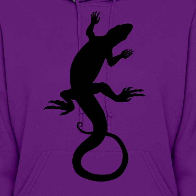 Lizard Hoodie Womens Reptile Art Jacket