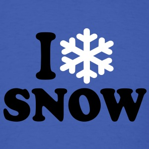 I love snow T-Shirts - Men's T-Shirt
