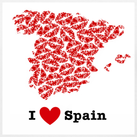 Design ~ I Love Spain V-Neck