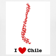 Design ~ I Love Chile V-Neck