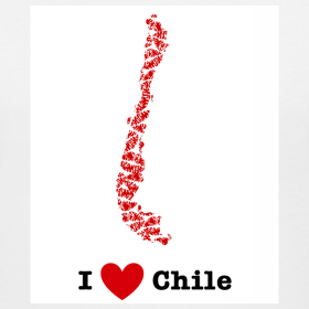Design ~ I Love Chile V-Neck